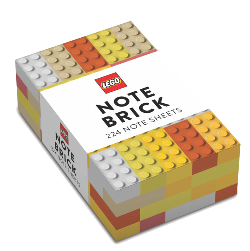 yellow LEGO note cards