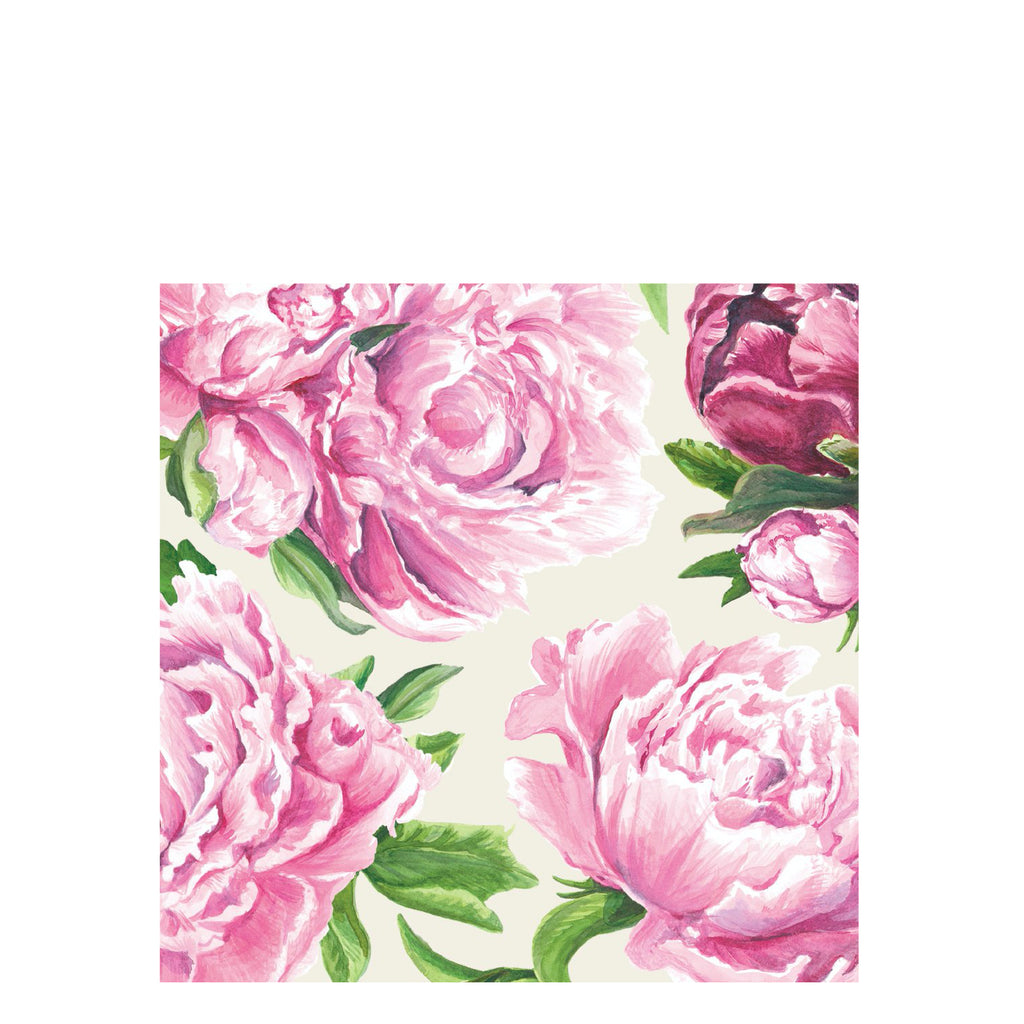 peony bloom cocktail napkins