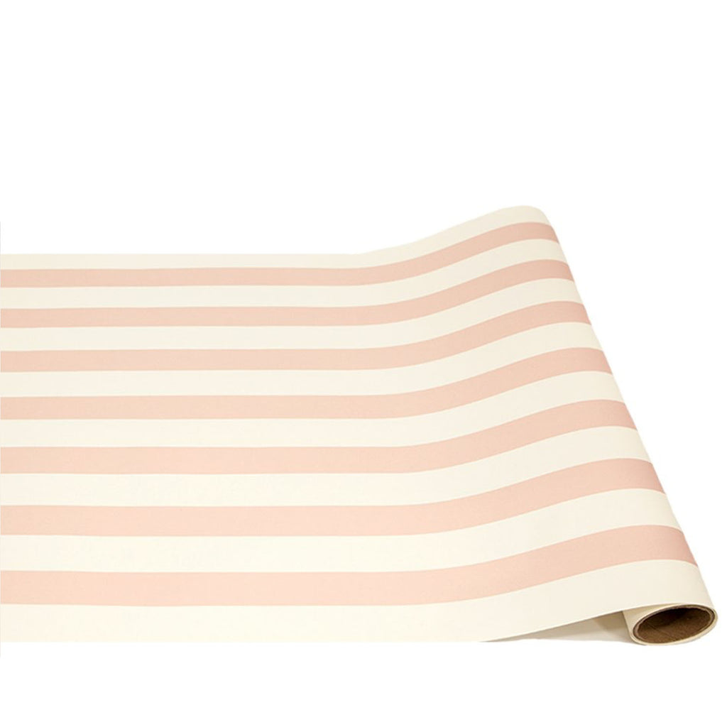 pink classic stripe: paper table runner