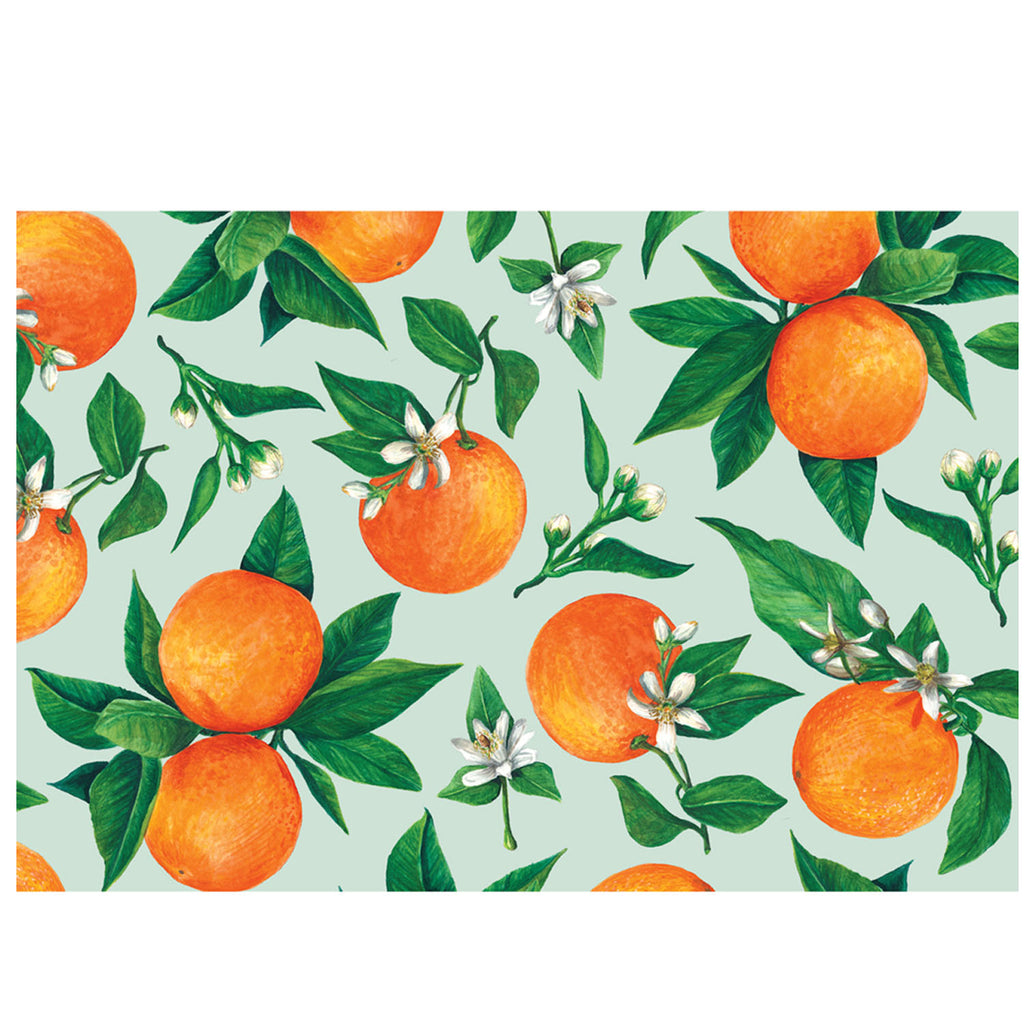 orange orchard: paper placemats