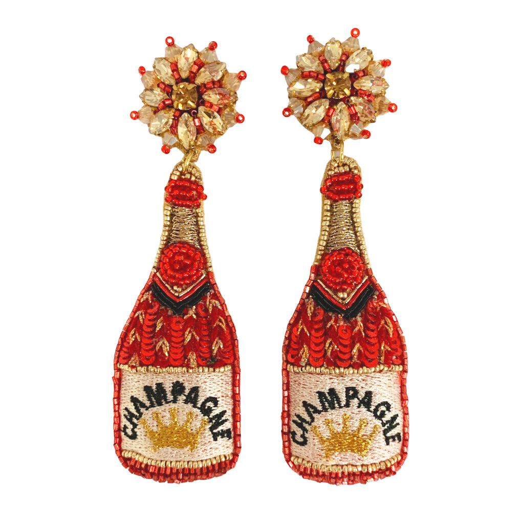 red champagne: earrings