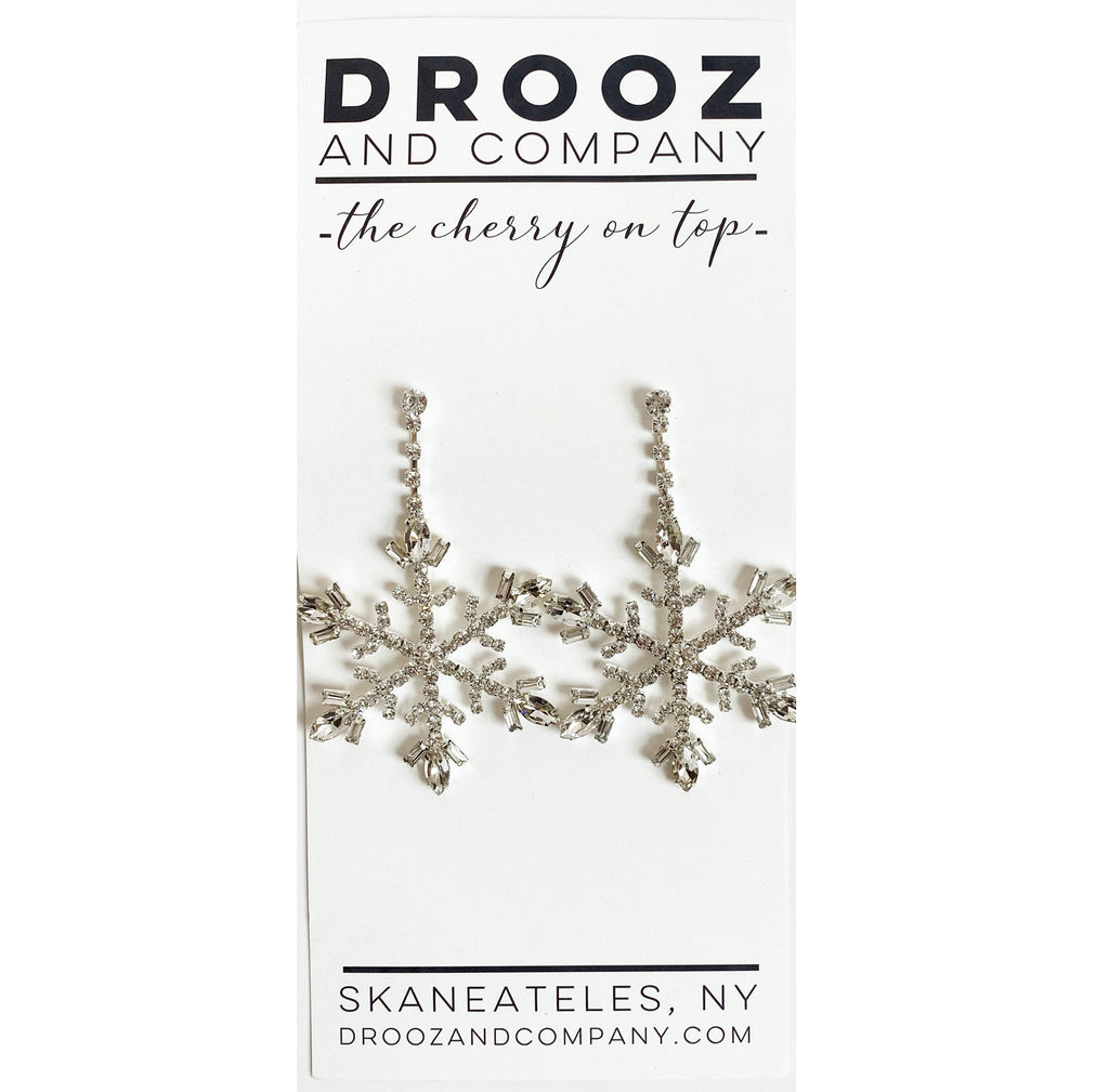 Snowflake Earring- the cherry on top