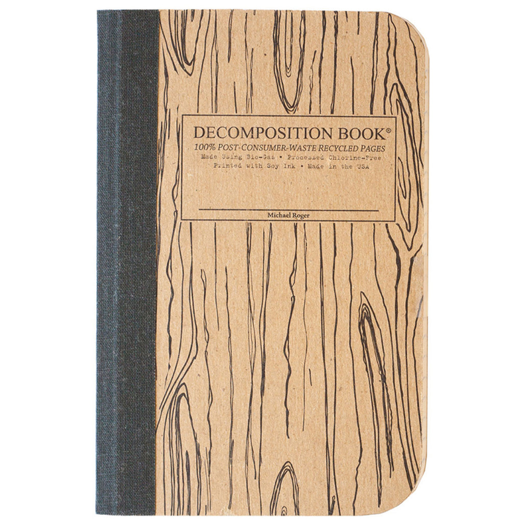 Woodgrain Pocket Size Decomposition Book (Grid Pages)