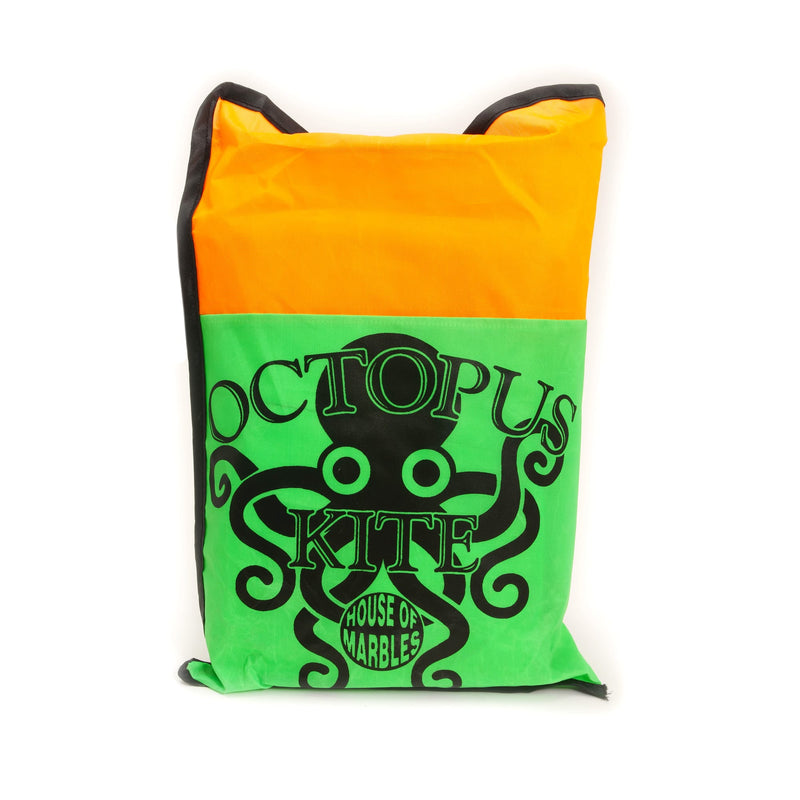 green/orange bag: octopus kite