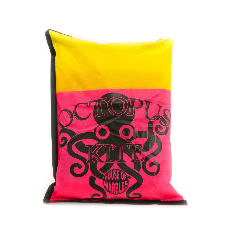 pink/yellow bag: octopus kite