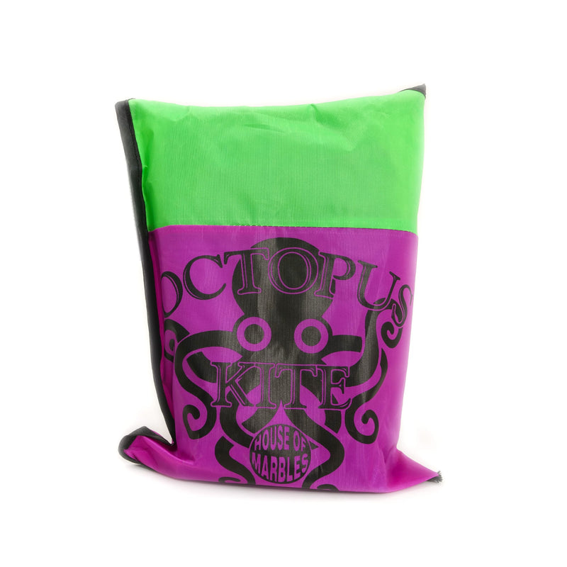 purple/green bag: octopus kite