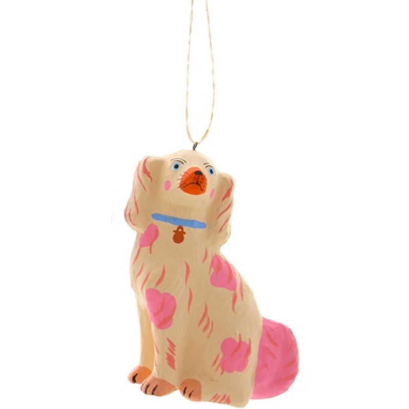 peach pastel Staffordshire Dog ornament