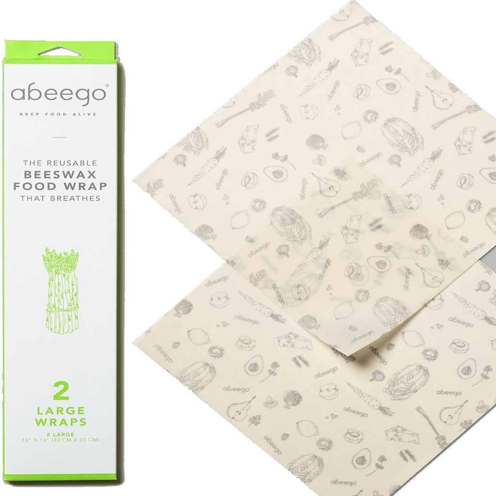 2 large : Beeswax food wrap: Abeego