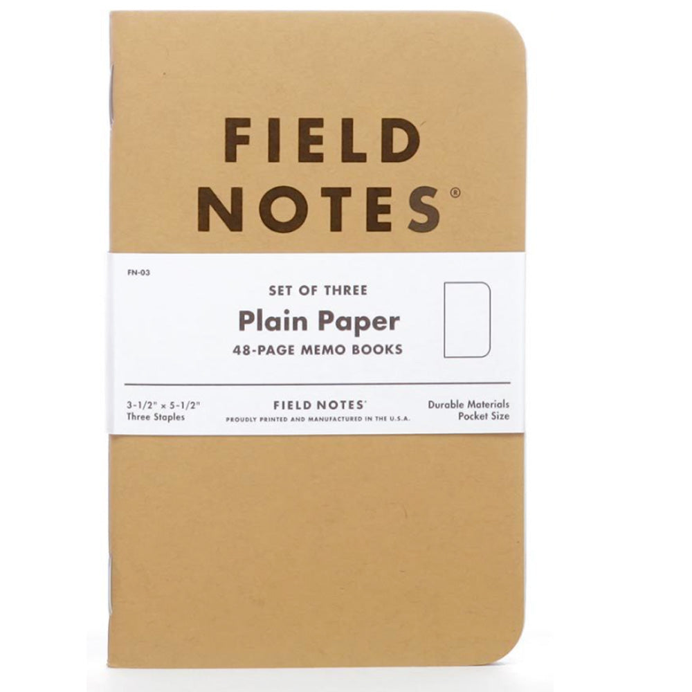 plain paper  FIELD NOTES: set (3)