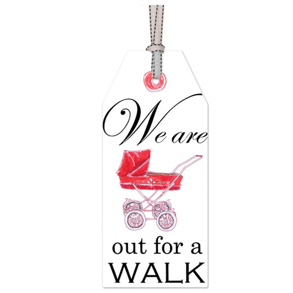 out for a walk: DOOR TAG
