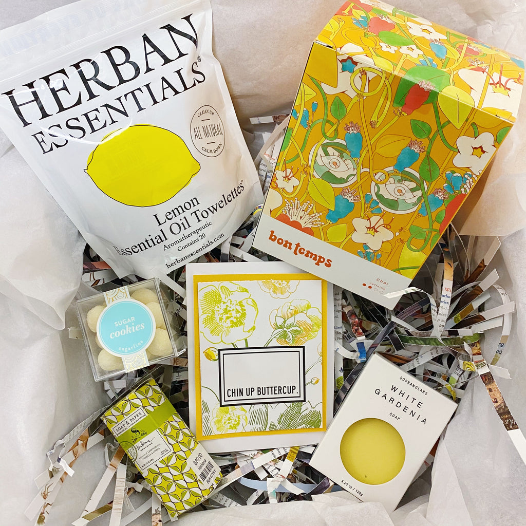 "Golden/Yellow ""Chin Up Buttercup"" Gift Box"