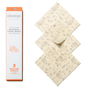 3 med: beeswax food wrap Abeego