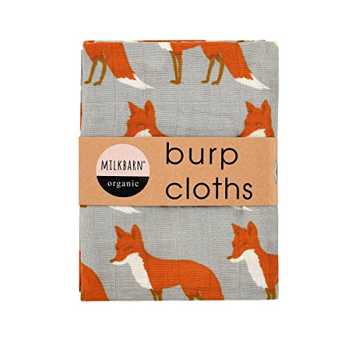 Orange Fox Burp Cloths- Milkbarn