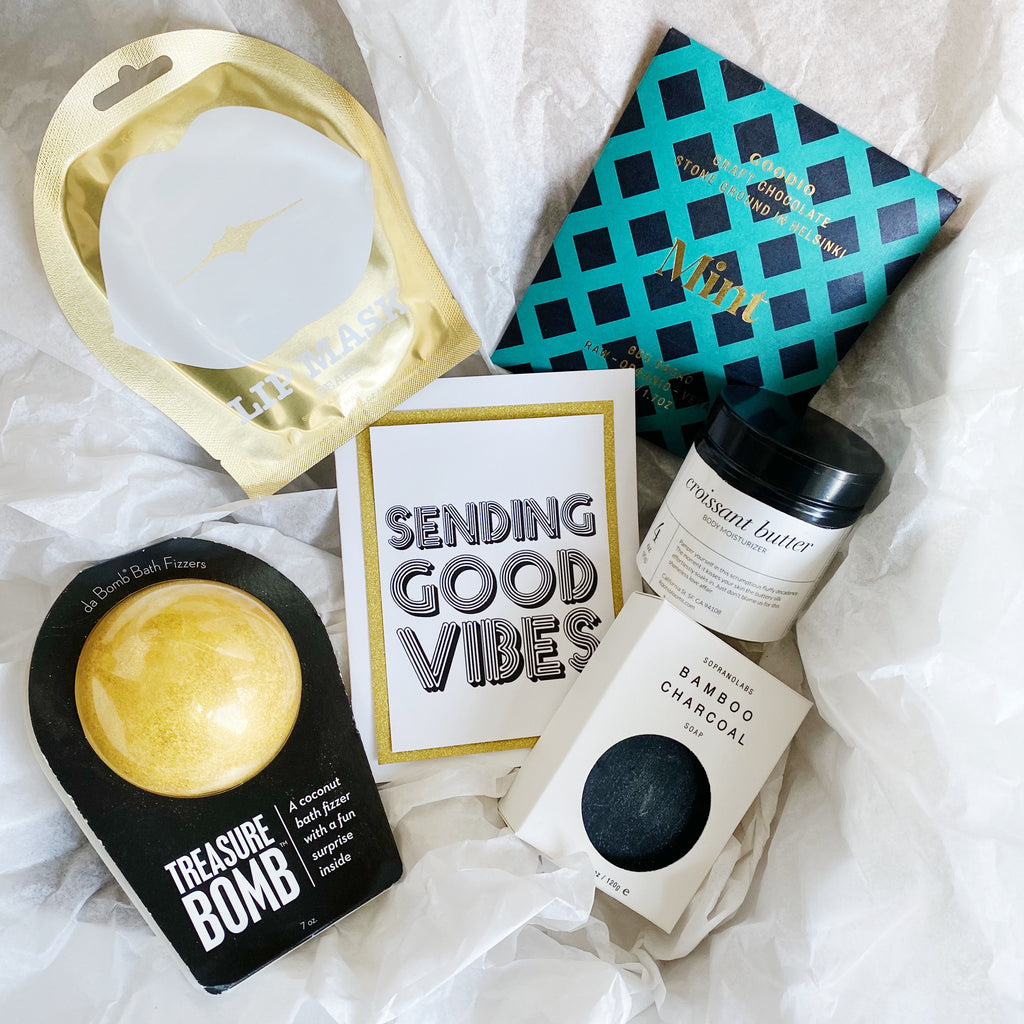 "Golden ""Sending Good Vibes"" Gift Box"