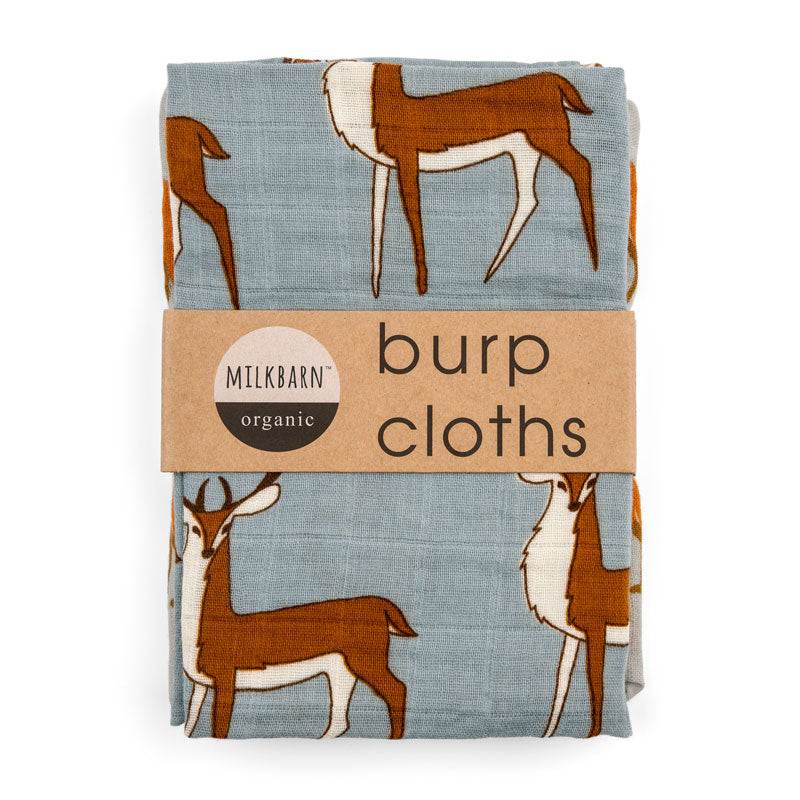 Blue Buck Burp Cloths- Milkbarn