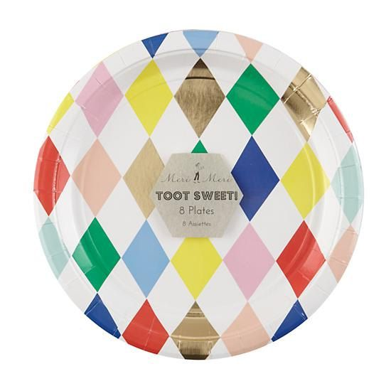 large plate: toot sweet harlequin