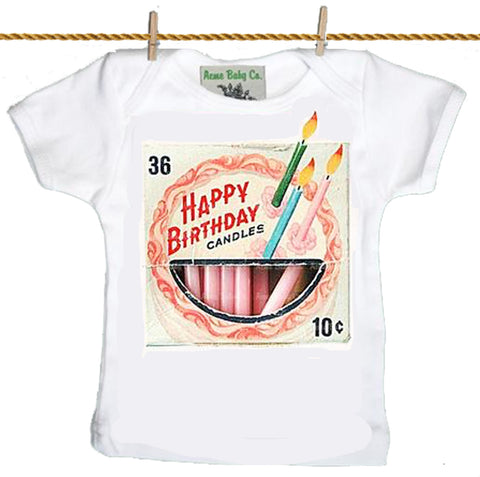 baby T-Shirt: Birthday Candle