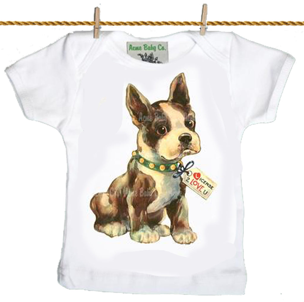 baby T-Shirt: Boston Terrier Love