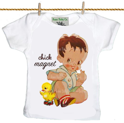 baby T-Shirt: Chick Magnet