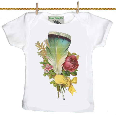 baby T-Shirt: Feathers