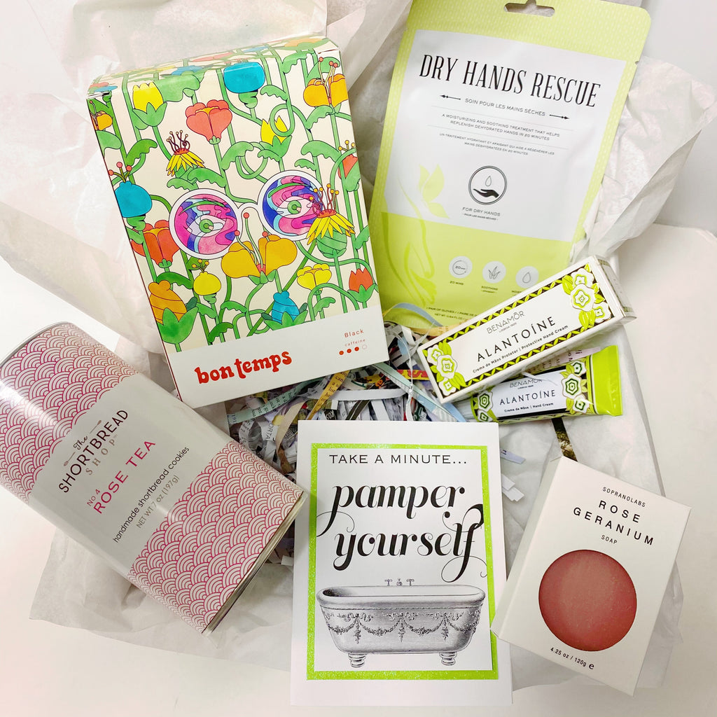 "Green& Pink ""Pamper Yourself"" Gift Box"