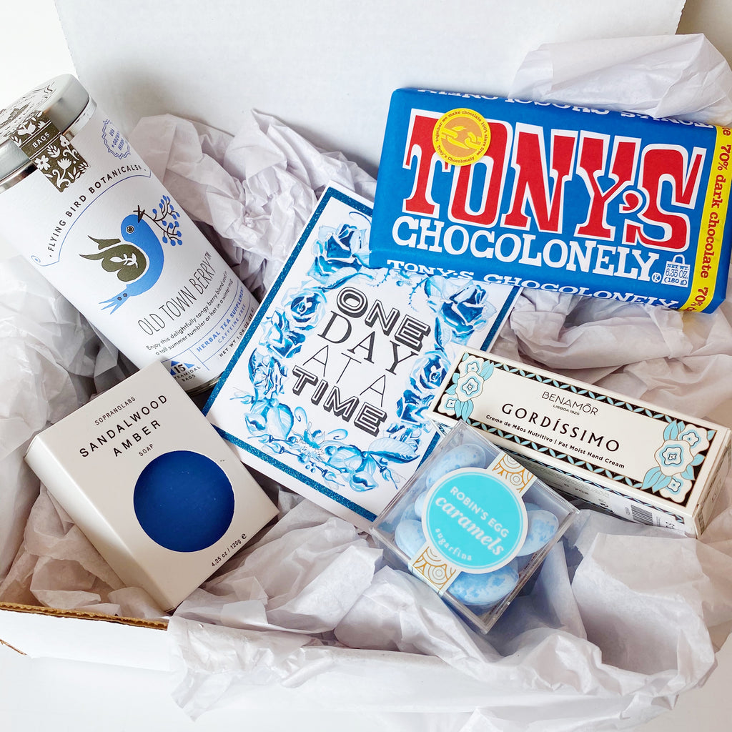 "Blue ""ONE DAY AT A TIME"" Gift Box"