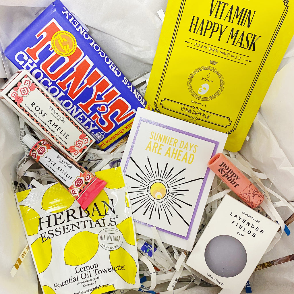 "Purple & Yellow ""Sunnier Days Ahead"" Gift Box"