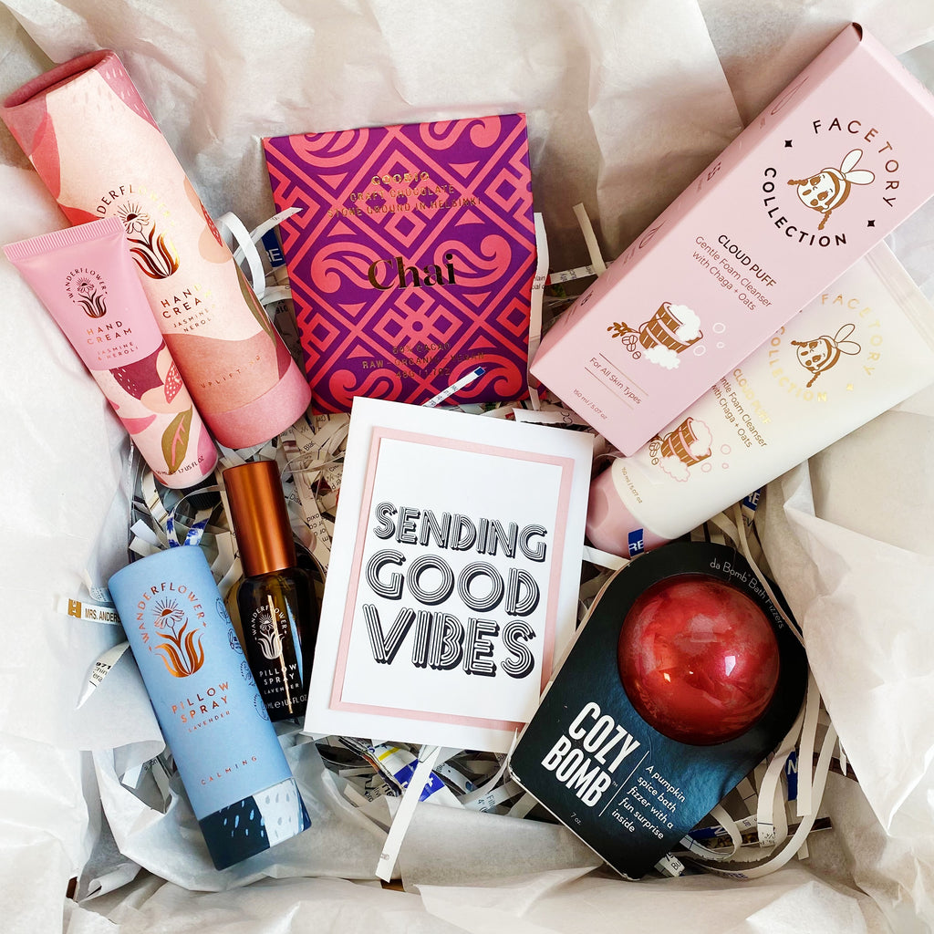 "Cozy Pamper ""Sending Good Vibes"" Gift Box"