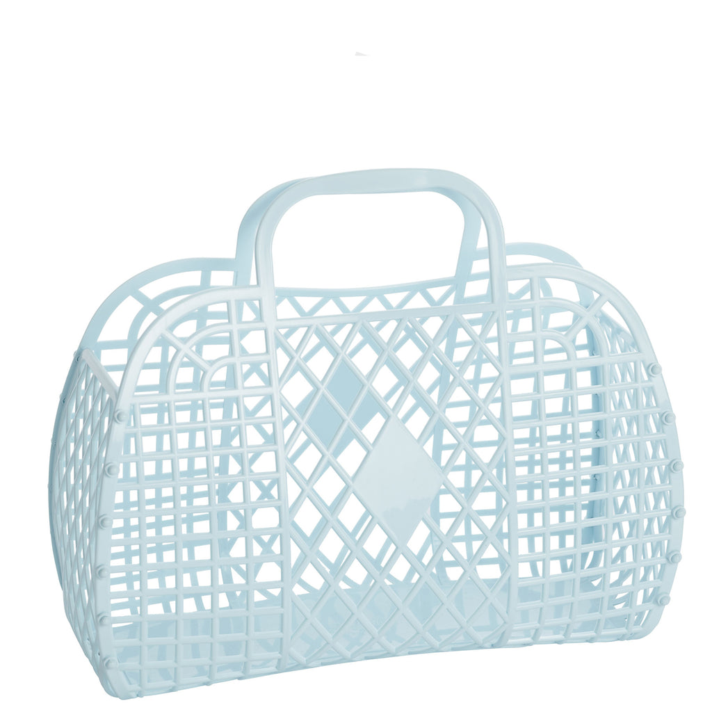baby blue: large retro basket {Sun Jellies}