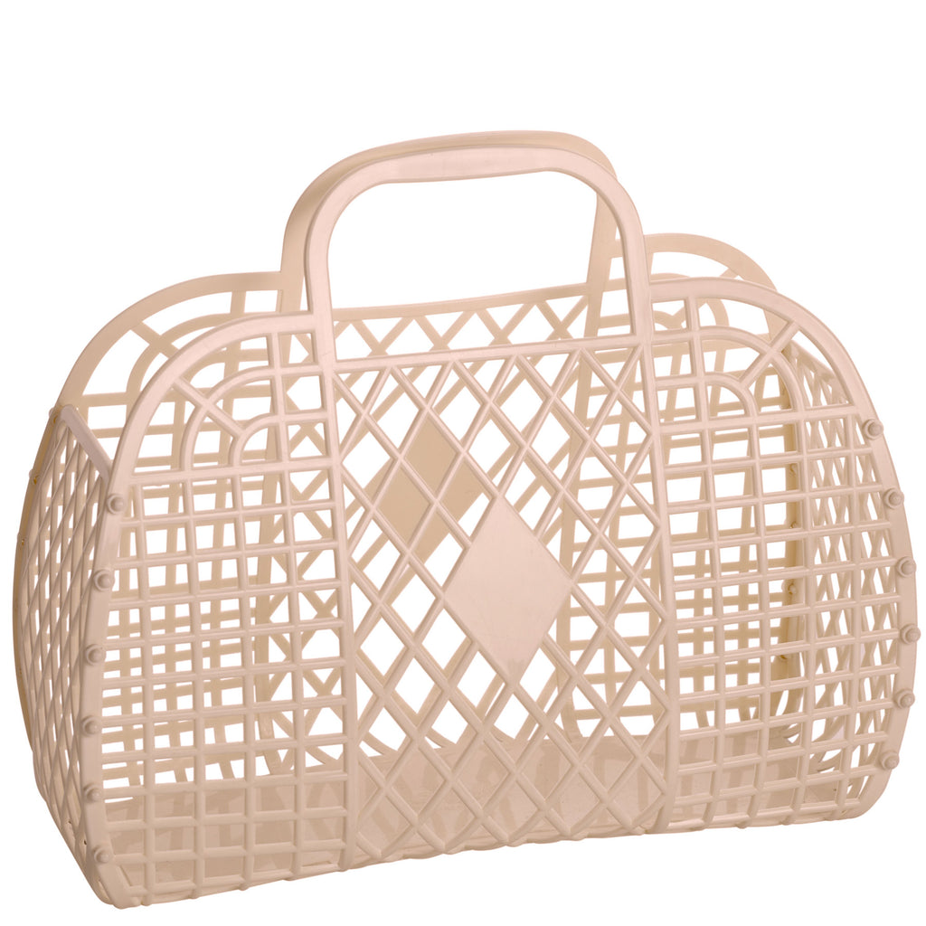 latte: large retro basket {Sun Jellies}