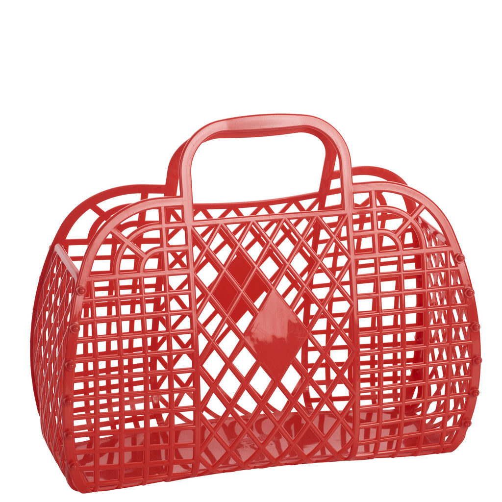 red: large retro basket {Sun Jellies}