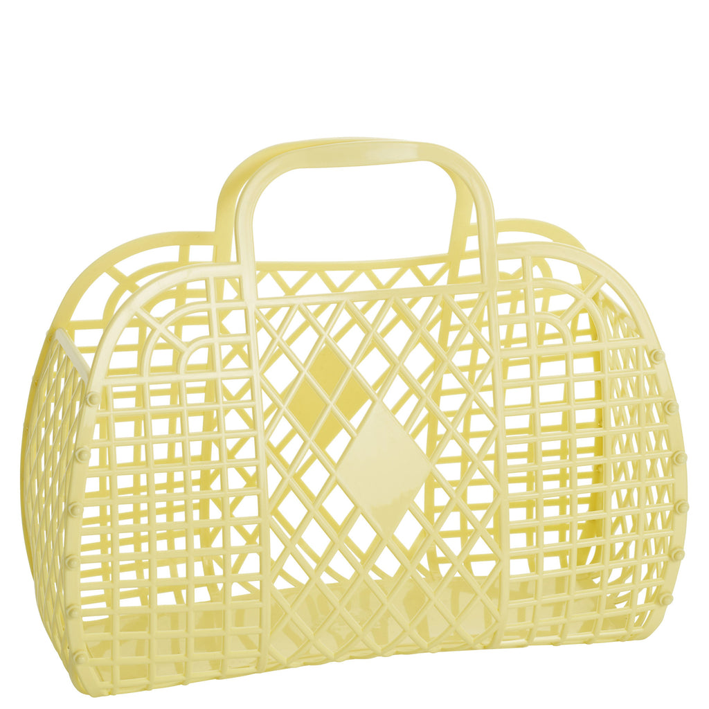yellow: large retro basket {Sun Jellies}