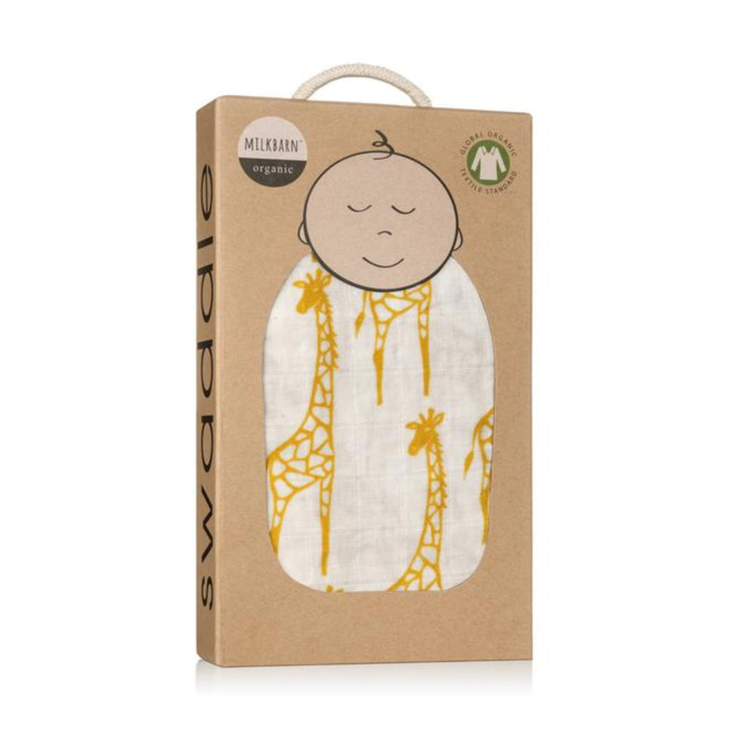 Yellow Giraffe Swaddle- Milkbarn