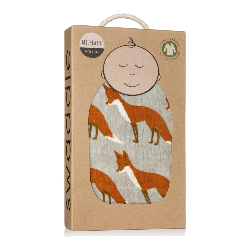Orange Fox Swaddle- Milkbarn
