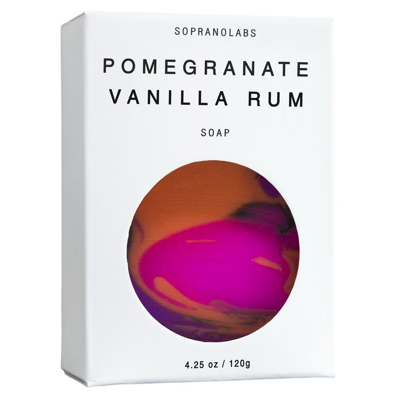 POMEGRANATE VANILLA RUM  VEGAN SOAP- Sopranolabs