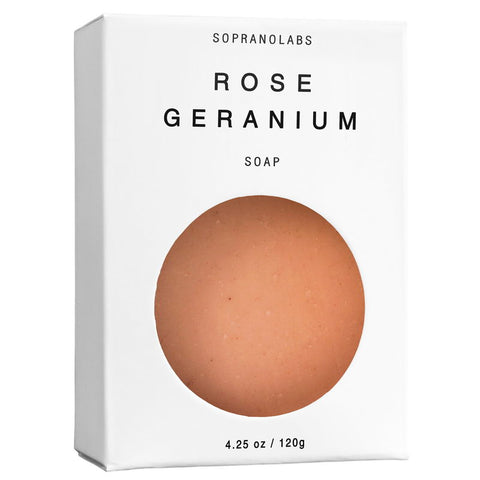ROSE GERANIUM  VEGAN SOAP- Sopranolabs