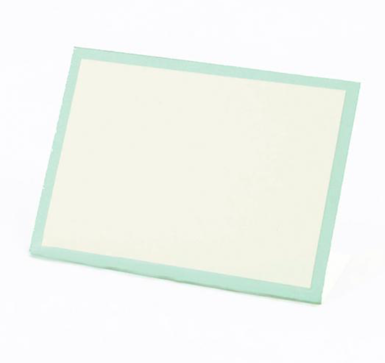 Seafoam Frame:  place cards