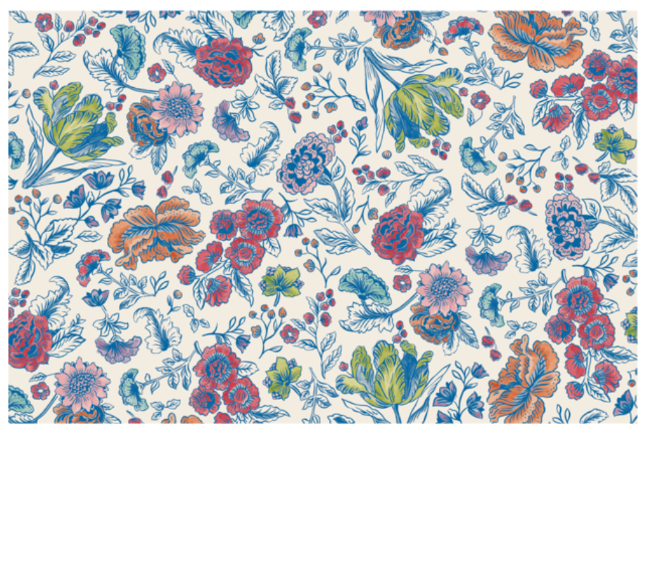 China Blue Floral: paper placemats
