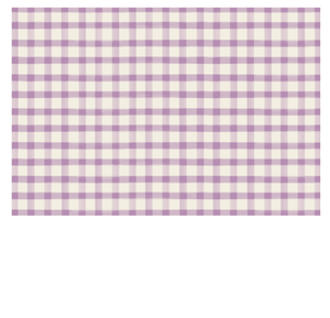 Lilac Painted Check: paper placemats