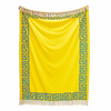 yellow Greek Key throw