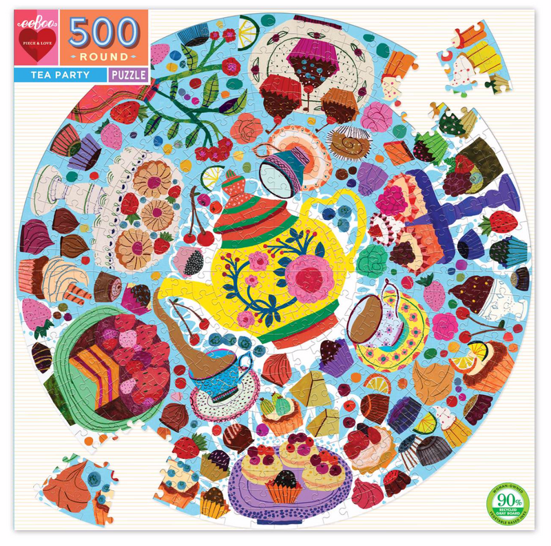 Tea Party 500 Piece Round Puzzle