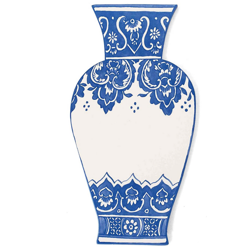 china blue vase accent card