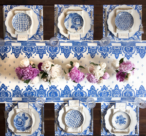 China Blue Stripe: paper table runner