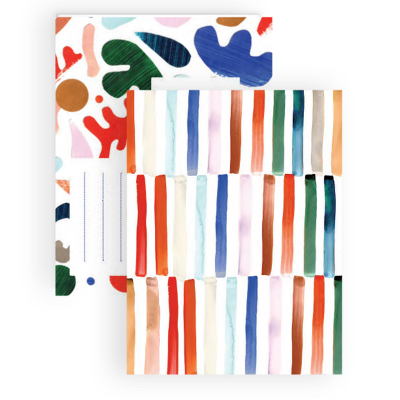 Staggered Stripe notecard Boxed Set