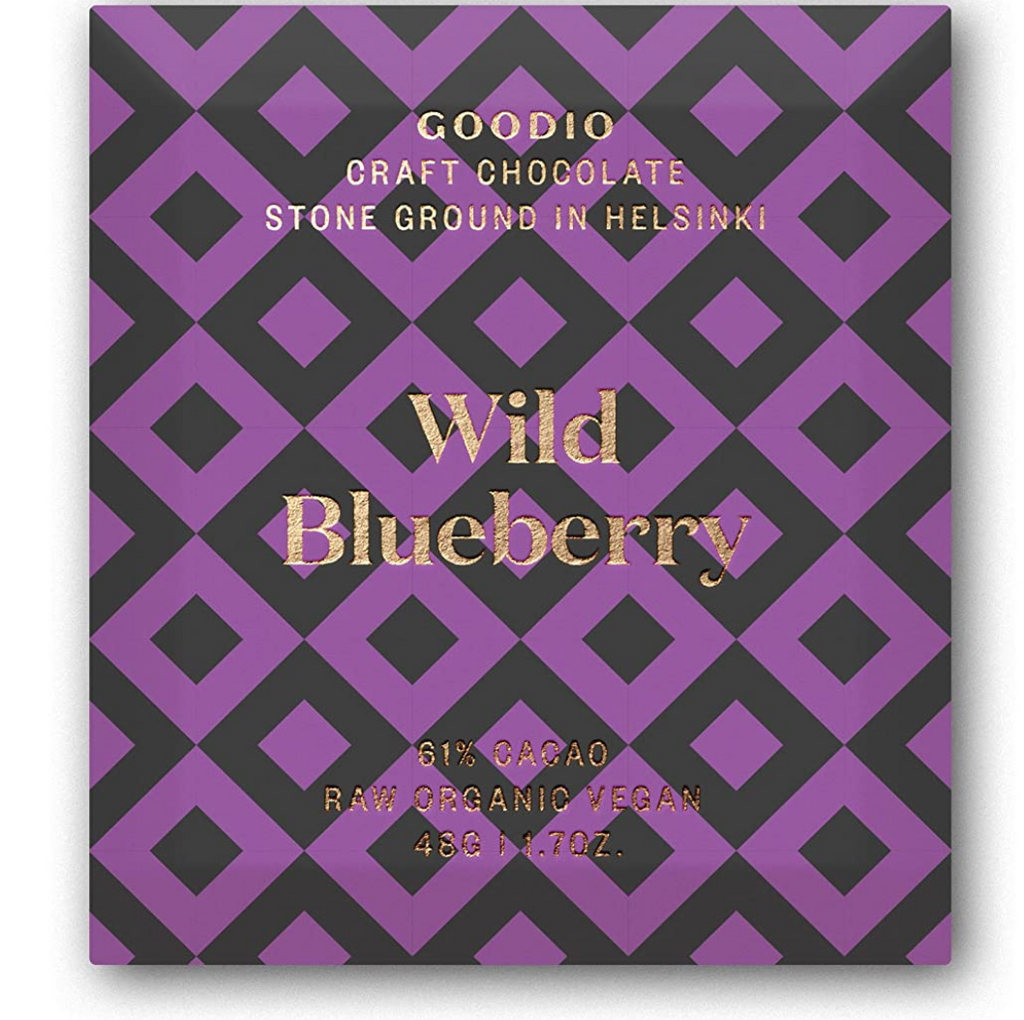 wild blueberry: Goodio Chocolate Bar