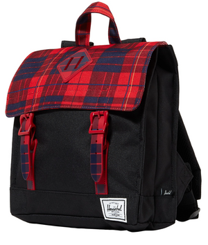 Survey Backpack | Kids | Black/Winter Plaid