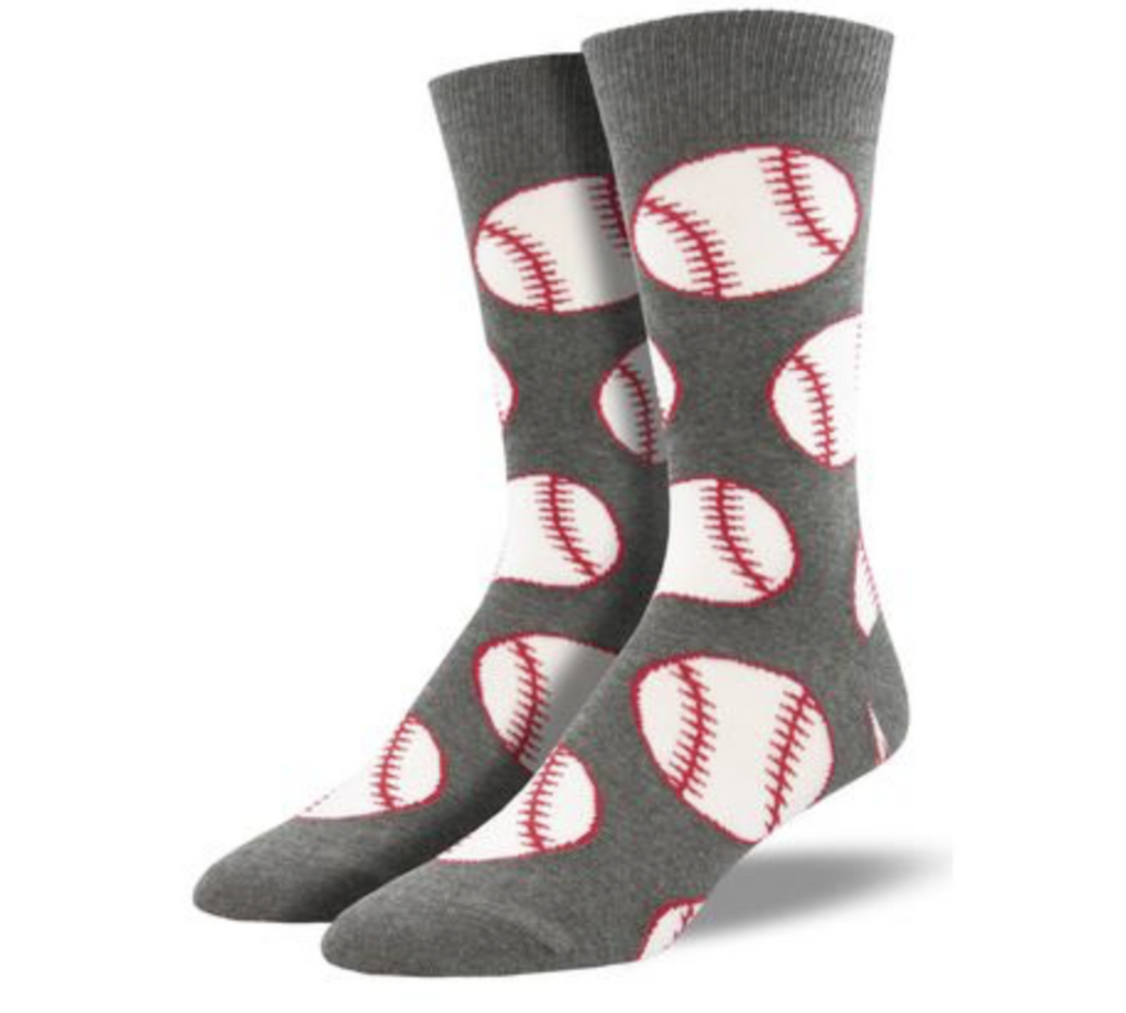Baseball Socks- Grey