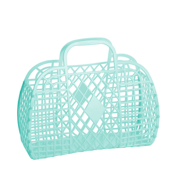 mint : large retro basket {Sun Jellies}