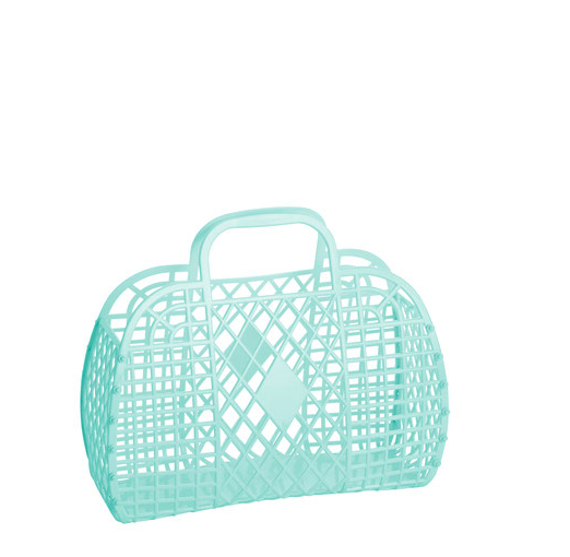 mint: small retro basket {Sun Jellies}