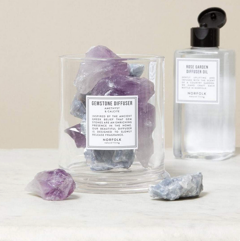 Gemstone Diffuser Amethyst and Calcite: Lavender Oil